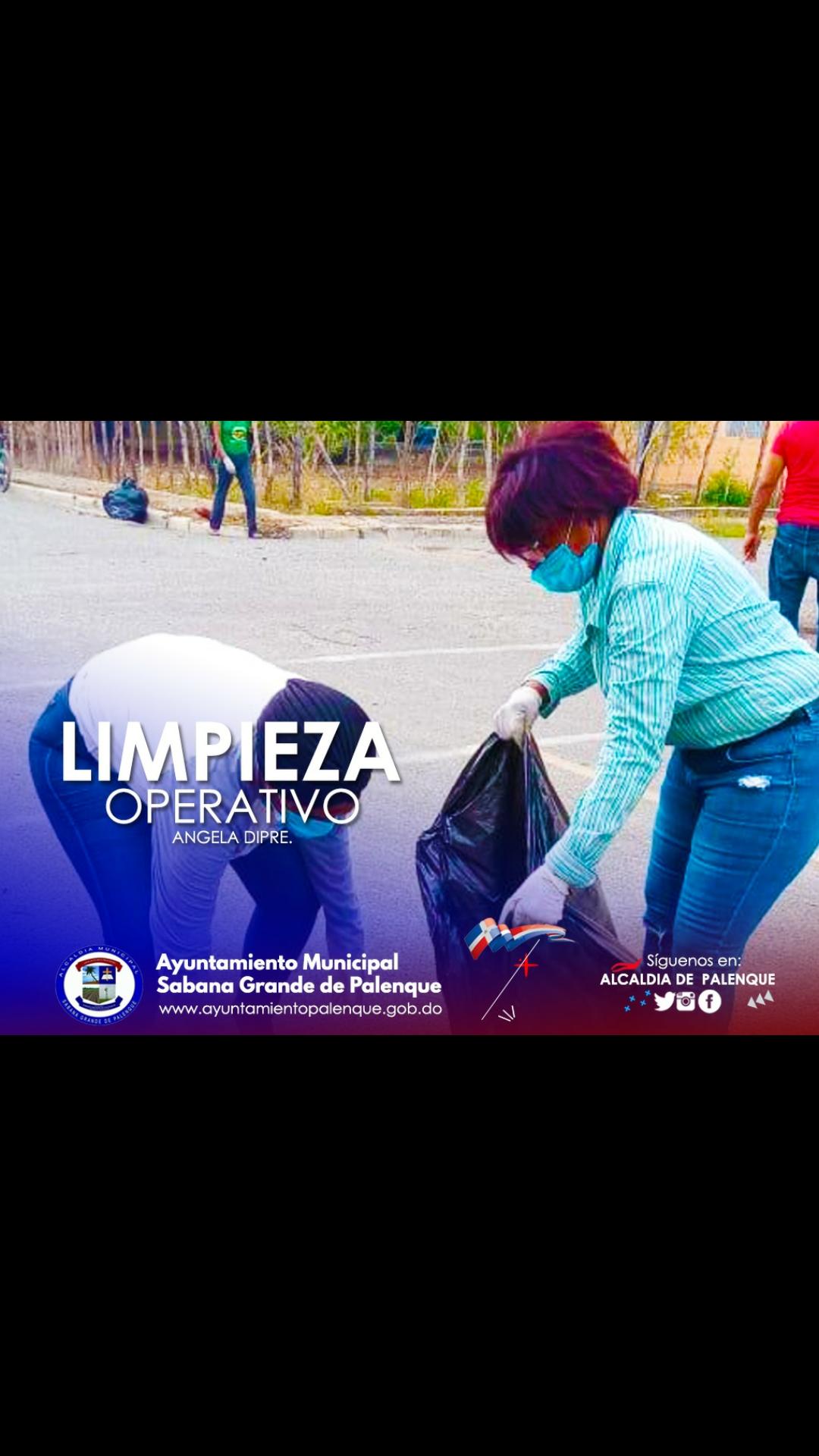 Angela Dipre continúa Jornada de Limpiez